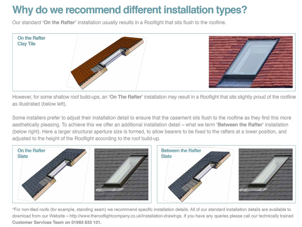 Why we recommend different installation types